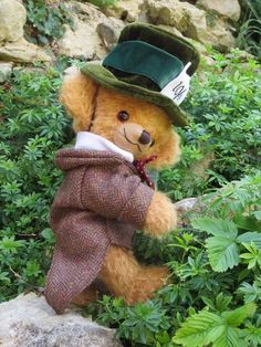 Witney Exclusive Cheeky Mad Hatter by Merrythought Love Bear, Mother Goose, Disney Love, Teddy Bears, Little Girls, Childhood, Classy, Lovers, Dolls