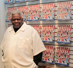 Winfred Rembert with his art