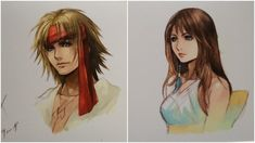 A Good Look At Official Post-Final Fantasy X-2 Character Art <<<panics bc Square Enix what does this mean why colour it now what does it mean?????