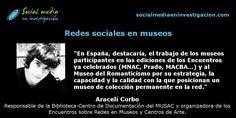 Charla con Araceli Corbo sobre redes sociales en los Museos y los Encuentros sobre Redes en Museos y Centros de Arte. #RRSSMuseos #Museos #RedesSociales La Red, Marketing Digital, Socialism, Art Centers, Small Talk, Romanticism, Interview, Science, Museums