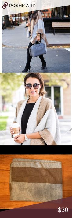 ILY Couture Camel Cape One size fits all! Barely worn, incredibly warm and comfortable. The material is very soft. As seen on fashion bloggers Kat Tanita and Christine Andrews Ily Couture Jackets & Coats Capes