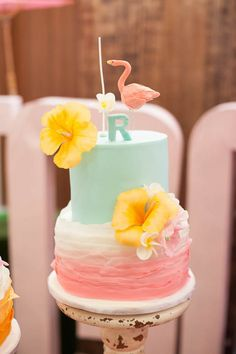 Tropical Flamingo themed birthday party via Kara's Party Ideas KarasPartyIdeas.com The Place For All Things Party! #flamingoparty #pinkflamingo #tropicalparty #flamingobirthdayparty (30)
