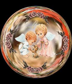 Animated Gif by Patricia Campos Christmas Globes, Christmas Bulbs, Snow Globes, Glitter Globes, Les Gifs, Angel Kisses, Christian Post, I Believe In Angels, New Year Greetings