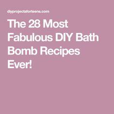 The 28 Most Fabulous DIY Bath Bomb Recipes Ever!