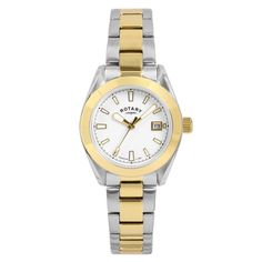 bb03da822dd9 Rotary Women s Quartz Watch With White Dial Analogue Display and Gold  Plated for sale online