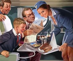 Some old Russian pinup posters.  Looks like an Aeroflot poster to me.