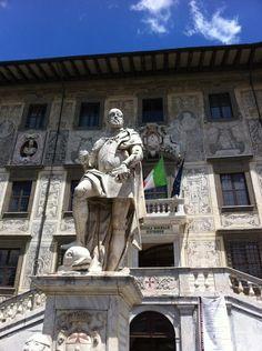 Piazza dei Cavalieri en Pisa, Toscana