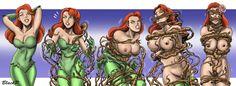 The evolution of Poison Ivy by BlackProf on DeviantArt