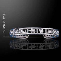 Sealife-925-Sterling-Silver-Bangle-Bracelet-by-Peter-Stone
