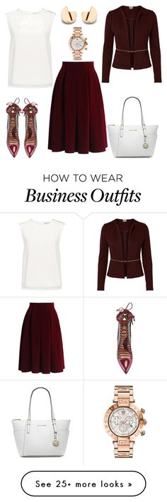 """""""#work wear #"""" by jazzygill on Polyvore featuring Finders Keepers, Chicwish, Paula Cademartori, Michael Kors and Versace"""