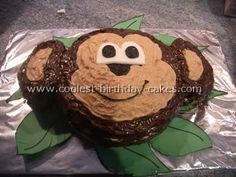 Monkey Birthday cake..so cute