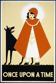 Little Red Riding Hood (Works Progress Administration poster by Kenneth Whitley, 1939)