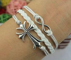 The cross bracelet infinity bracelets silver by themagicbracelet, $3.99