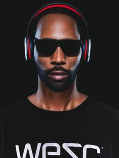 WeSC RZA Street Headphones (Black/Red)
