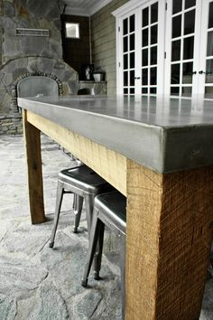Concrete Dining Table - Concrete Wave Design | Concrete Sinks, Concrete Countertops, Concrete Fireplace, Concrete Furniture | Southern CA