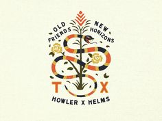 Howler X Helms Collab designed by Collin Hall for Helms Workshop™. Connect with them on Dribbble; Letterhead Logo, Typography Logo, Typography Design, Logo Branding, Branding Design, Logo Restaurant, Monogram Logo, Logo Inspiration, Serpent Animal
