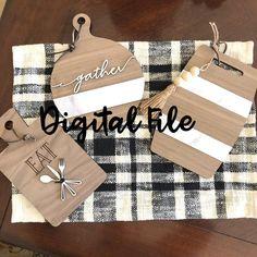 Real Estate Gifts, Magnolia Design, Board Decoration, Diy Cutting Board, Patterned Vinyl, Personalized Cutting Board, 3d Laser, Scan And Cut, Laser Cut Files