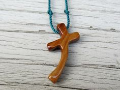Wooden Cross Necklace  Australian Cypress  by TheLotusShop on Etsy, $14.95 #Cypress #Cross