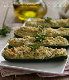 Zucchine ripiene saporite, ricetta facile | Cucina veloce e sana