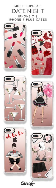 Most Popular Date Night iPhone 7 Cases and iPhone 7 Plus Cases. More Girly iPhone case here > https://www.casetify.com/majatomljanovic/collection
