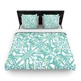 Found it at Wayfair - Swirling Tiles Teal Duvet Cover Collection