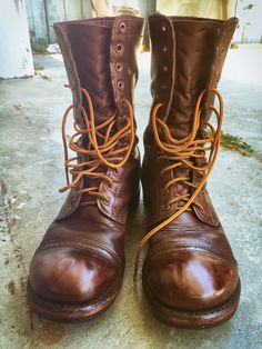Vintage Corcoran Combat Jump Boots WW2 Size 10 #Boots