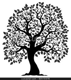 Tree shaped silhouette 3 Vector Illustration - Download tree Royalty Free Clipart