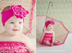 6 mths-1 year umbrella session, add big sunglasses too.