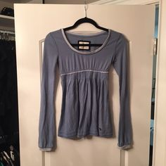 Abercrombie Long Sleeve Shirt Light blue shirt with a widened bottom part, stripes on sleeves and above waist Abercrombie Tops