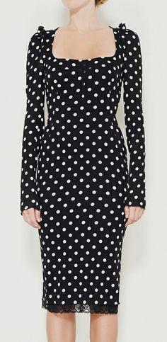 Dolce  Gabbana Black And White Dress.