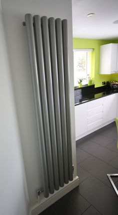 Industrial looking radiator is a feature in this Kitchen!