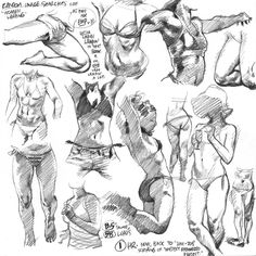 WEBSTA @ adam_warren_art - Lotta ladies leapin' in today's life drawings from photoreference, as practice for one lady leapin' a lot in next year's action-packed EMPOWERED vol. Anatomy Sketches, Anatomy Drawing, Anatomy Art, Drawing Sketches, Basic Drawing, Life Drawing, Realistic Drawings, Cool Drawings, Surreal Artwork