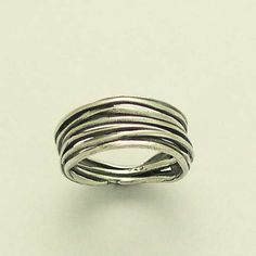 Sterling silver wrapped ring Men's and Women's band  - Live the dream 2.