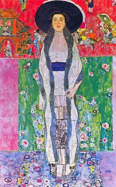 Gustav Klimt. Portrait of Adele Bloch Bauer II, 1912. She was the wife of wealthy industrialist Ferdinand Bloch-Bauer, and was the only model to be painted twice by Klimt. She was also the subject of the more famous Portrait of Adele Bloch-Bauer I. Her husband was a big sponsor of the arts, including Klimt, which probably had some influence on her sitting for Klimt twice.