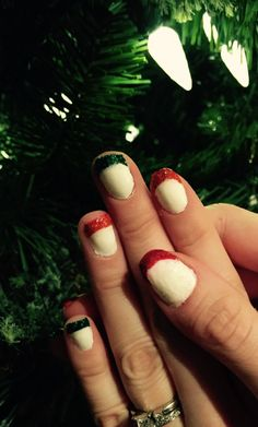 Christmas Month 2014: Festive French Tips http://nailsfornickels.com/christmas-month-2014-festive-french-tips/