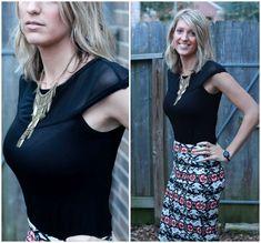 Fashion Forward - loving this cute pencil skirt and black mesh top!   www.joyfulhealthyeats.com #stitchfix