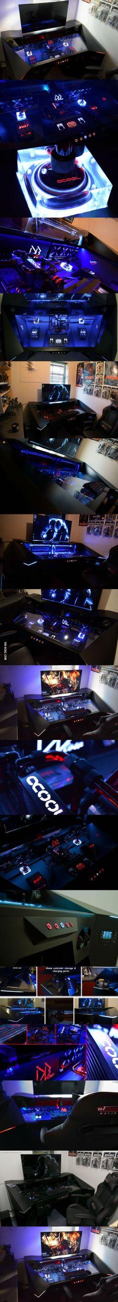 A 4K gaming PC custom-built in desk