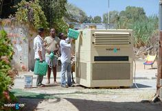 New Water-generating machines can pull drinking water out of the air, creating security for water scarce areas. The largest unit can produce 825 gallons of water per day at 80 degrees and 60 percent humidity Atmospheric Water Generator, Water From Air, Water Water, Water Cycle, Diy Pest Control, Gallon Of Water, Day Off, Fleas, Industrial Revolution