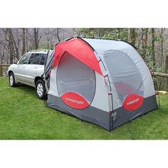 @Overstock.com - CampRight SUV Tent - This simple Campright SUV tent is great for anyone who loves to camp. The tent is easy to connect or disconnect at any time, so you can use it to add a room by opening your SUVs back door. The polyester tent is great for keeping out the elements.  http://www.overstock.com/Sports-Toys/CampRight-SUV-Tent/6710283/product.html?CID=214117 $299.95