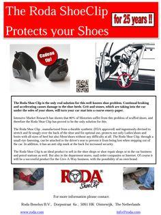 De RODA SHOECLIP protect shoes/heels while driving ! De RODA SHOECLIP beschermd schoenen/hakken tijdens het autorijden !  www.roda.com