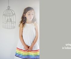 so cute! rainbow ribbons.