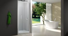 Merlyn Showering are a leading supplier of contemporary shower enclosures, bath screens, shower trays and accessories. Bifold Shower Door, Shower Doors, Steam Showers Bathroom, Bathrooms, Minimalist Bathroom Design, Bath Screens, Contemporary Shower, Bathroom Design Inspiration, Shower Enclosure