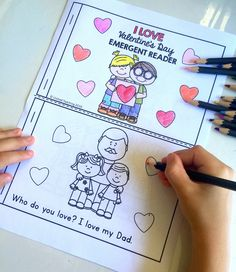 Who do you love? What do you love to do? Practice reading with this FREE super CUTE emergent reader for Valentine's Day.