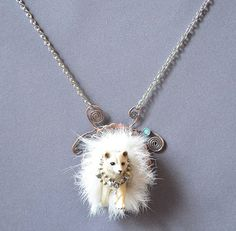 Ghost Fox Necklace Made With Plastic Fox And by dolldisasterdesign