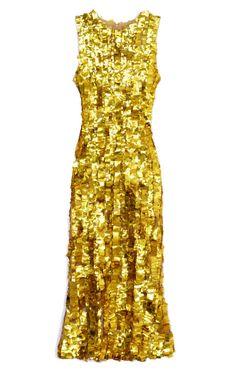 Get the Look: LSD's Tesserae Embroidery Sheath Dress by Wes Gordon for Preorder on Moda Operandi