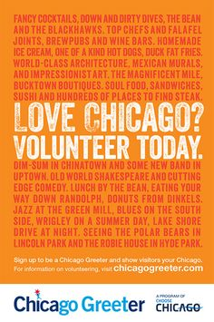Chicago Greeter: Meet a Greeter and make a friend today [Customized Tours of the City!?!] #Cool #Travel