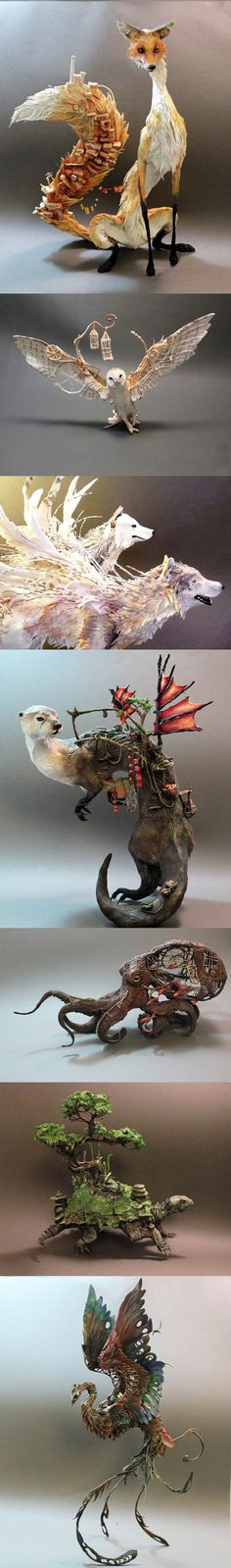 Ellen Jewett. She calls it Natural History Surrealist Sculpture. I call it amazing.