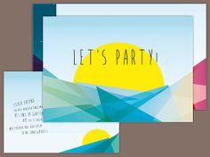 Partyeinladung Modern