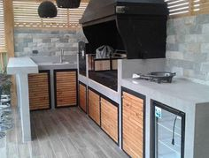Outdoor Barbeque, Outdoor Kitchen Patio, Outdoor Kitchen Design, Grange Restaurant, Parrilla Exterior, Outdoor Grill Station, Barbecue Design, Dirty Kitchen, Diy Grill