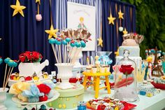 Little Prince Party Prince Party Theme, Little Prince Party, Prince Birthday Party, Birthday Table, The Little Prince, 1st Boy Birthday, 2nd Birthday Parties, Baptism Party, Baby Party